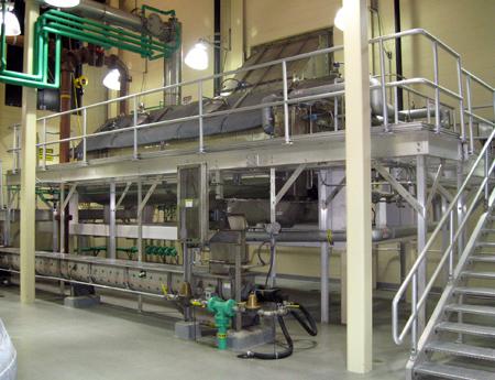 Biosolids dryer installation