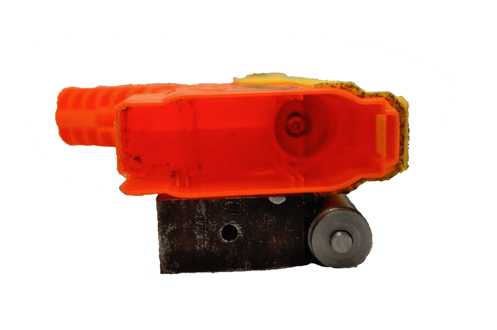 Showing inside the shell of the dart blaster