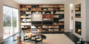 Bibliothèque garnie