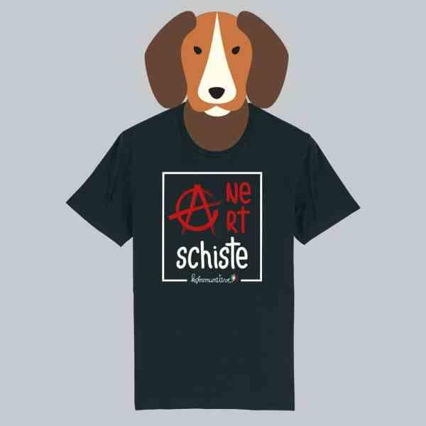 T-shirt noir à manches courtes Ane Art Schiste / Anarchiste