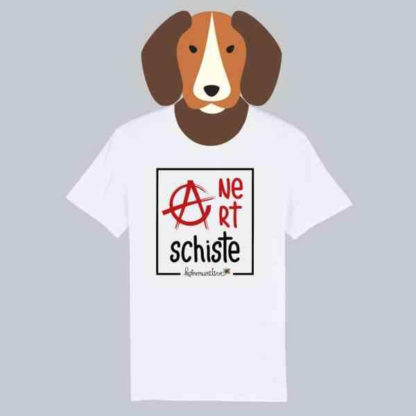 T-shirt blanc à manches courtes Ane Art Schiste / Anarchiste