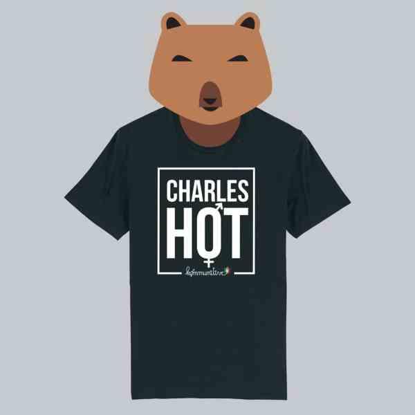 T-shirt noir à manches courtes Charles Hot / Charlotte