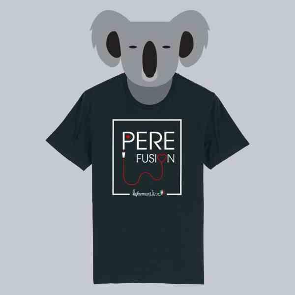 T-shirt noir à manches courtes Père Fusion / Perfusion