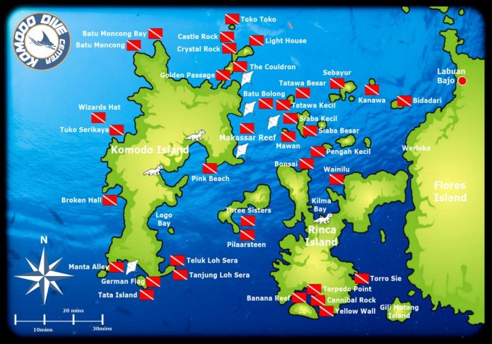 Dive Sites in Komodo | Komodo Dive Center