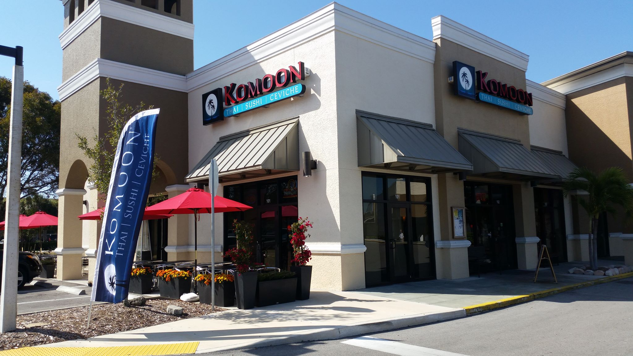 Komoon thai sushi ceviche naples and bonita springs florida surrounded komoon bonita springs recently added an outdoor seating area which provides an additional 32 seats for our customers beautiful flowers and mightylinksfo
