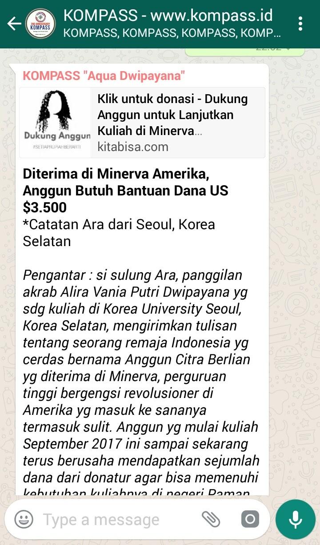 Diterima di Minerva Amerika, Anggun Butuh Bantuan Dana US$3500