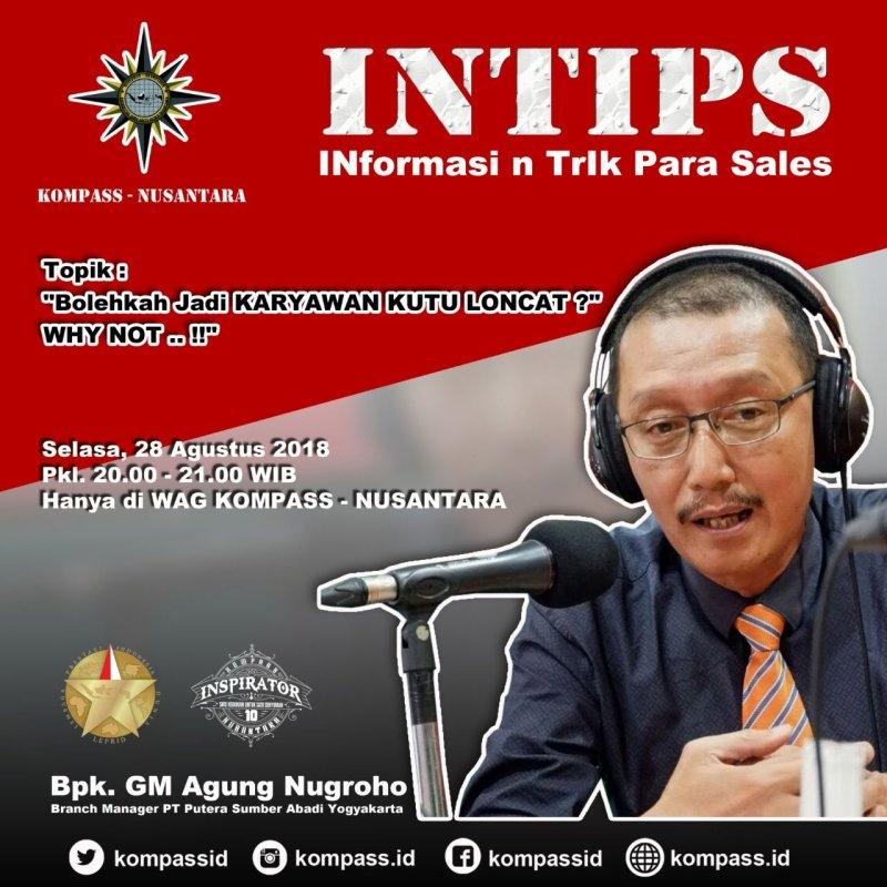 Program INTIPS Komunitas Para Sales Super Nusantara 28 Agustus 2018