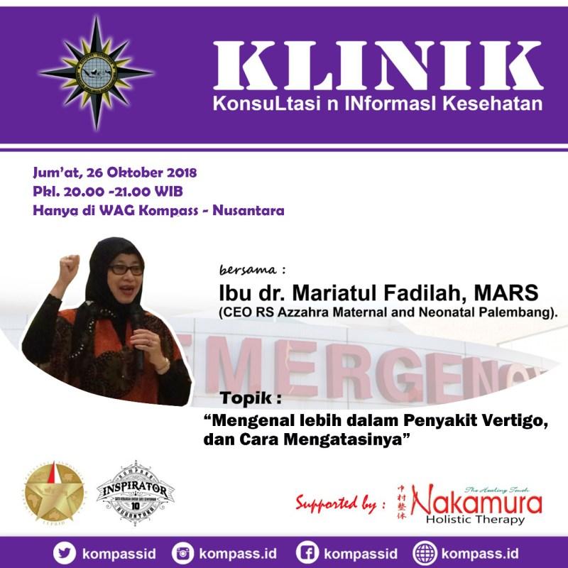 Program KLINIK KOMPASS Nusantara 25 Oktober 2018