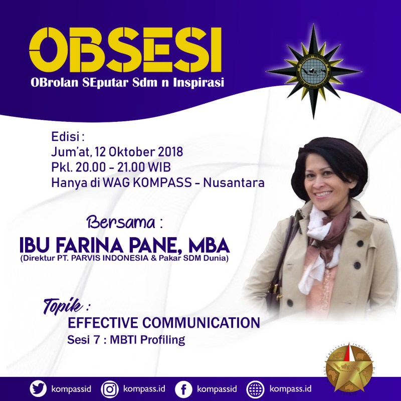 Program OBSESI KOMPASS Nusantara 12 Oktober 2018