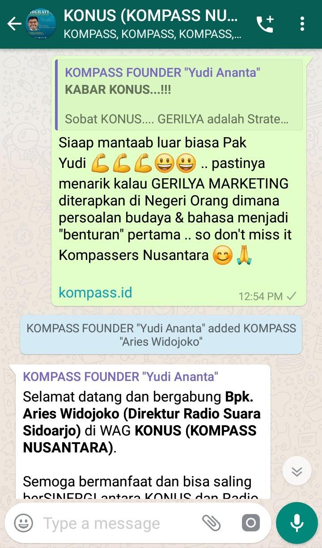 Komentar Muhammad Idham Azhari KONUS Digital Marketing 7 Mei 2019