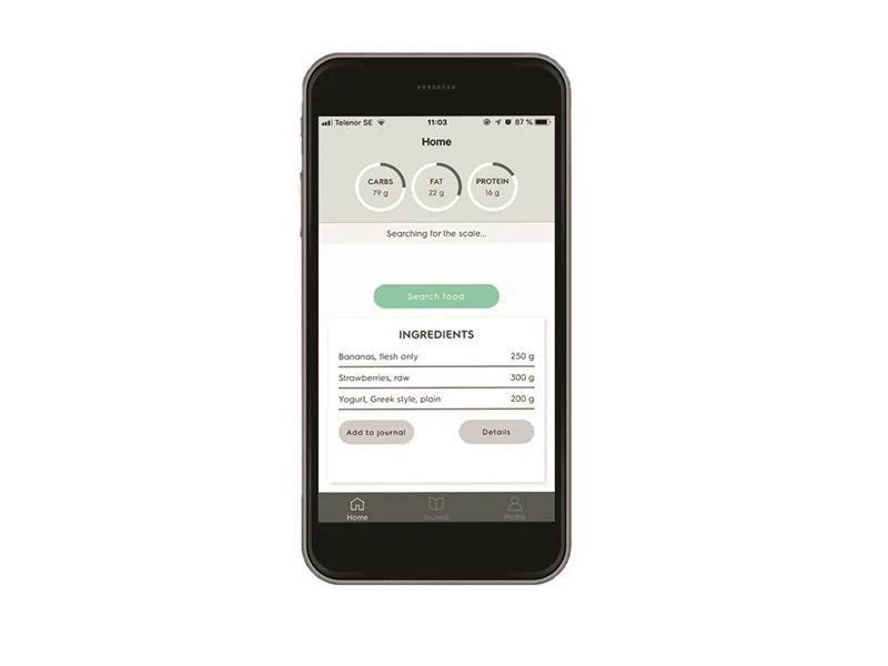 Electrolux BKS1 digital vekt med app - Kjøkkenvekter - Komplett.no