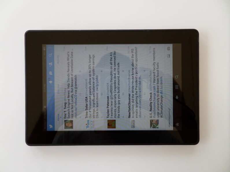 The seven inch 2013 Amazon Kindle Fire HD tablet PC