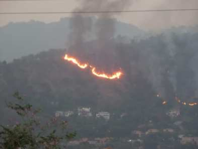 The Jack's Hill fire that took place on July 27, 2014 in Jamaica.