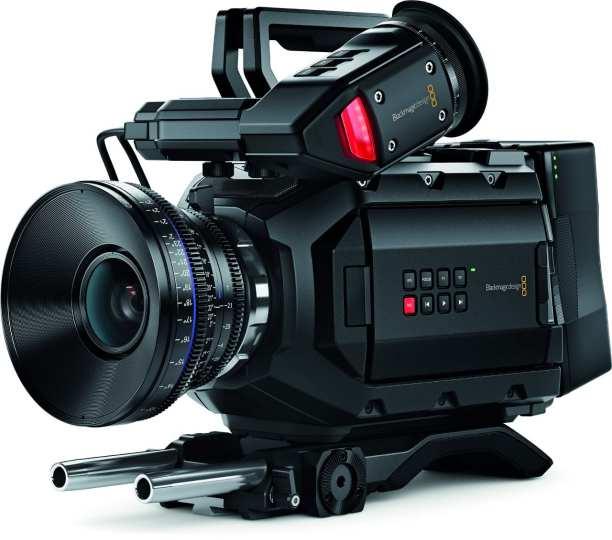 The left side of the Blackmagic URSA Mini cinema camera.