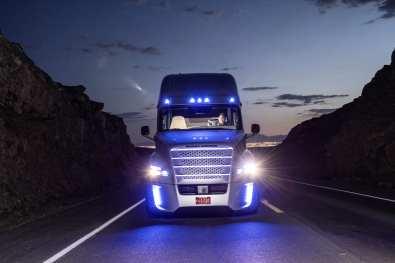 Freightliner Inspiration Truck - Front - Evening