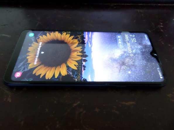 A smartphone (Samsung Galaxy A20s)