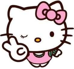 Gambar Hello Kitty Paling Lucu pink