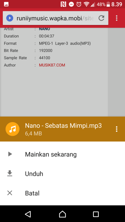 cara download lagu di wapka