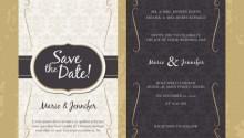 Undangan pernikahan dalam gaya vintage