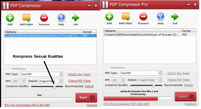 cara mengecilkan ukuran file pdf offline dan online