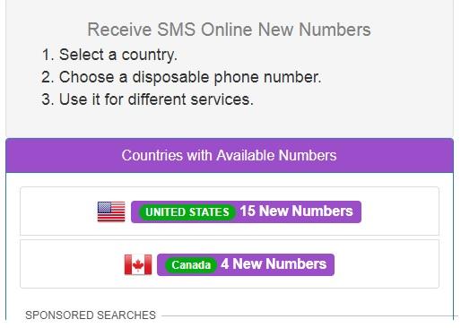 terima sms online gratis