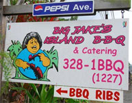 Eat at Big Jake's Island BBQ