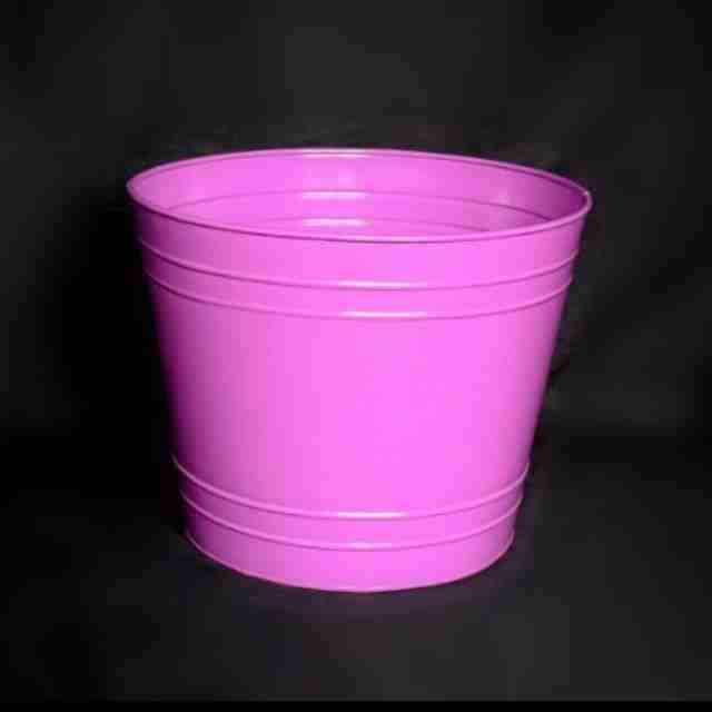 Pink colour tapered commercial flowering pot