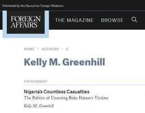 CFR und Greenhill - Bildquelle: Screenshot-Ausschnitt www.foreignaffairs.com