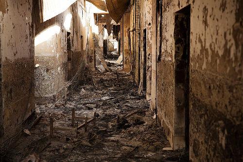 Krankenhaus nach den Angriffen - Bildquelle: www.theantimedia.org