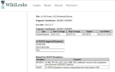 WikiLeaks - Bildquelle: Screenshot-Ausschnitt www.wikileaks.org