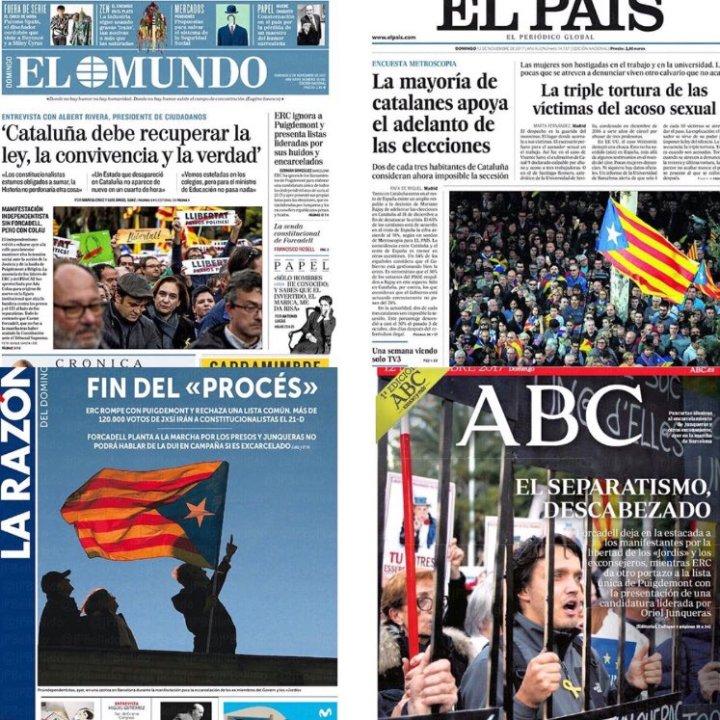 Spanische Medien - Bildquelle: diverse Screenshot-Ausschnitte, Julian Assange