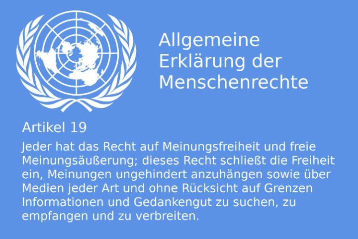 UN-Menschenrechte Artikel 19 - Bildquelle: www.konjunktion.info