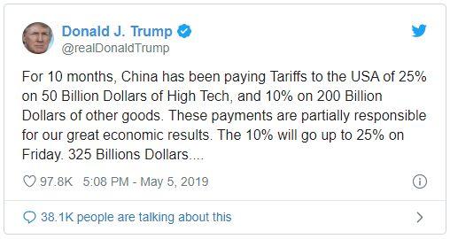 Tweet Trump - Bildquelle: Screenshot-Ausschnitt Twitter