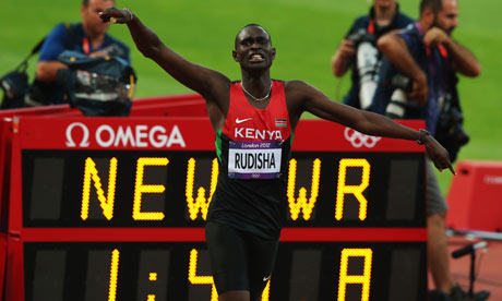 David Radisha - Gold Medalist and New World Record Holder in the 800 metres