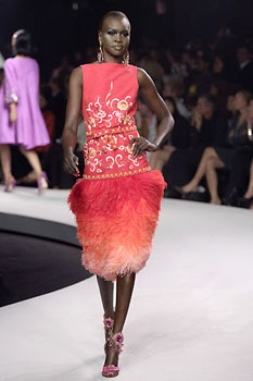 Alek Wek DIOR resortMonday may 14th _2007New york