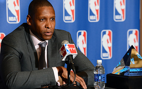Denver Nuggets Executive Vice President of Basketball Operations Masai Ujiri named 2012-2013 NBA Executive of the Year