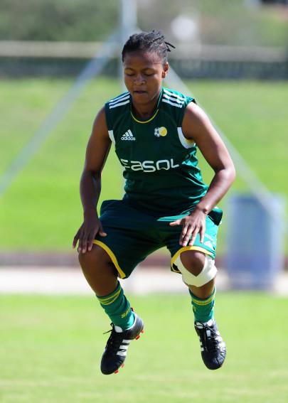 Football - All Africa Games Qualifier - South Africa v Botswana - South Africa training - Seshego Stadium