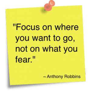 Focus on where you want to go...