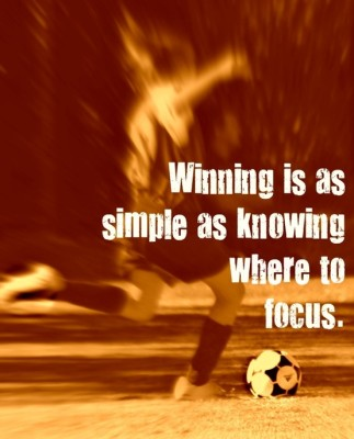 Winning is as simple...
