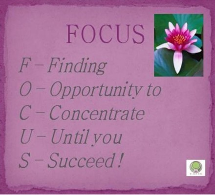 focus-finding opportunity to concentrate until you succeed