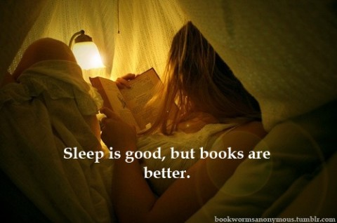 sleep is good, books are better