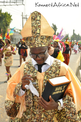 The Bishop was also at the Carnival. Lol.
