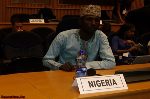 Joseph Emmanuel Yaba Representing Nigeria at the Opening Ceremony of African Youth Forum at the AU Headquarters in Addis Ababa, Ethiopia.