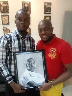 Ayokanmi Binutu with Fela Durotoye