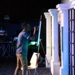 """Kolapo of Pencils n Brushes speed painting at Mr Patrick's """"The Comedy Show"""" 2015"""