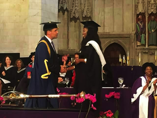 Folafoluwa Mary Oginni, The First Nigerian Valedictorian In The University of Hertfordshire
