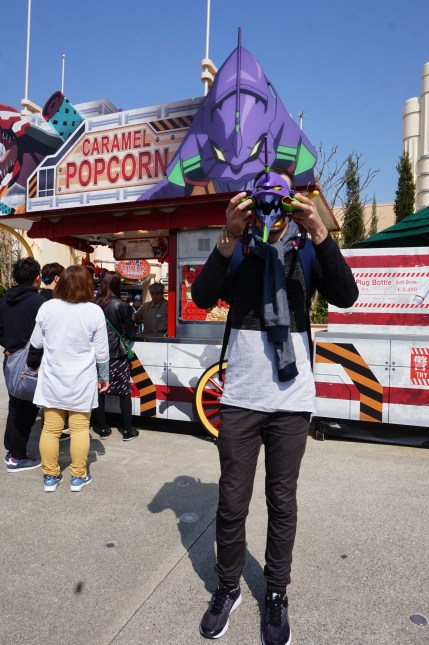 10 Tips to Maximise Your Day at Universal Studios Japan - Evangelion Popcorn Bucket