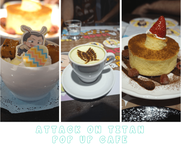 Visiting the Attack on Titan Pop Up Cafe in Tokyo - Food and Drinks