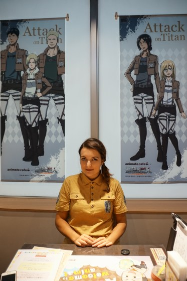 Visiting the Attack on Titan Pop Up Cafe in Tokyo - Inside the Attack on Titan Pop Up Cafe