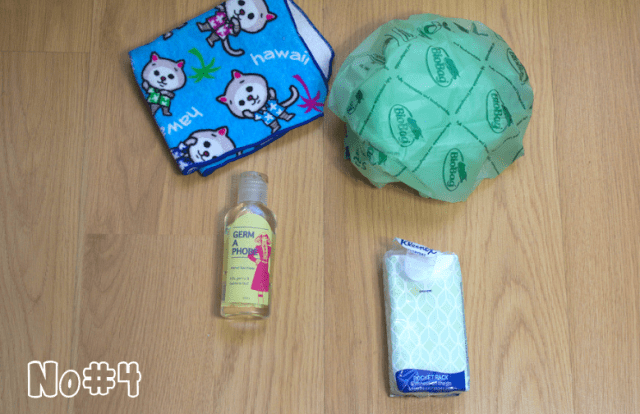 9 Essential Things You Need for Your First Trip to Japan - Hand towel, antibacterial gel, tissues and plastic bag